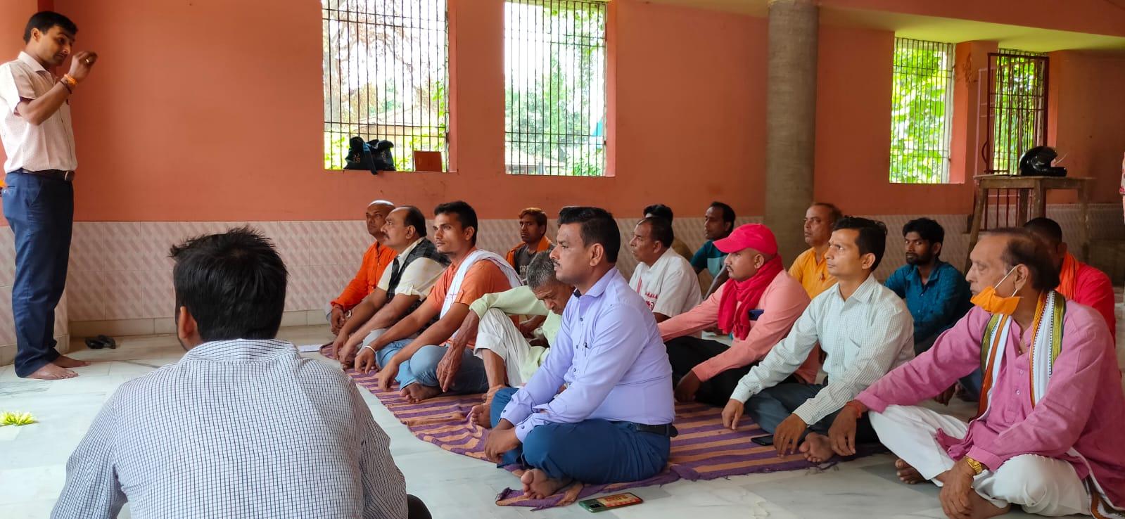 मशरक की खबरें : आरएसएस स्वयंसेवकों ने भगवा ध्वज और भारत माता की किया पूजा-अर्चना