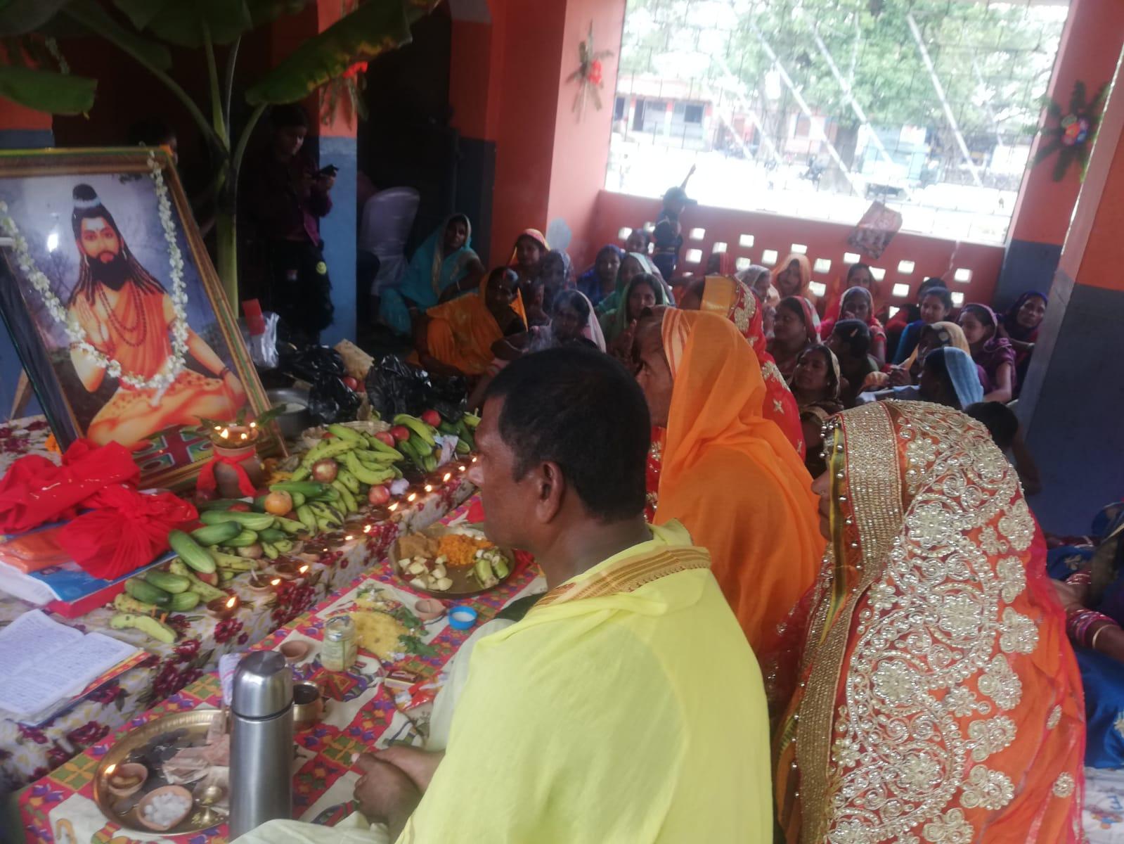 सिधवलिया के शेर में भगवान गणिनाथ की पूजा धूमधाम से की गई