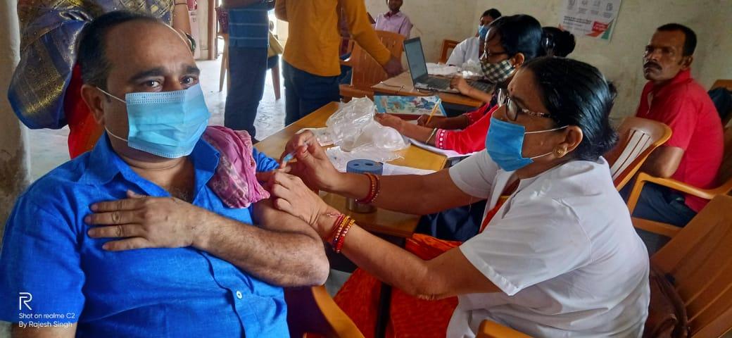 कोविड-19 टीकाकरण : मंगलवार को 70 सत्र स्थलों पर हुआ टीकाकरण: