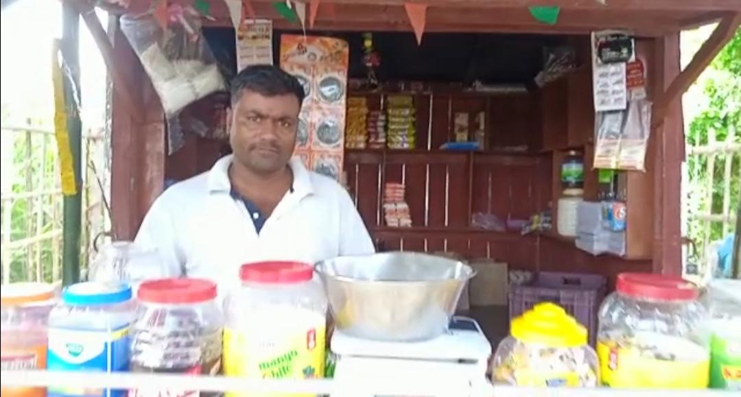 किराना दुकान का ताला तोड़कर अज्ञात चोरों ने हजारों के संपति चुराई
